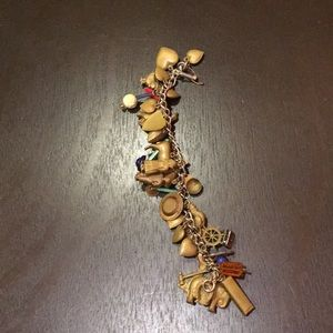 Old fashioned charm bracelet with vintage charms